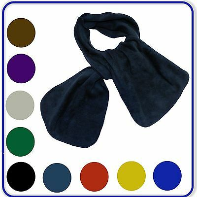 "Polar Fleece School Scarf Boys Girls Fashionable Cozy Warm Soft Scarf 45""x7.5"""