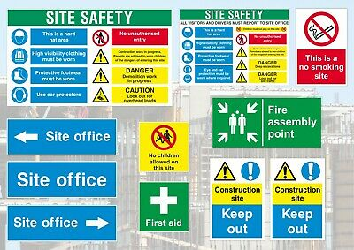 Construction Site Signs - Complete Safety Sign Pack - Building Site Compliant