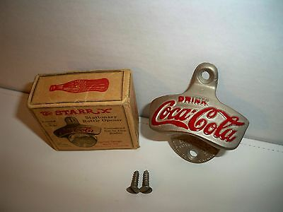 "Vintage Starr ""X"" Coca-Cola Stationary Bottle Opener With original Box"