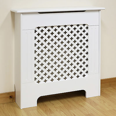 White Traditional/Classic Mini/X Small Size Radiator Cabinet/Cover MDF Wood
