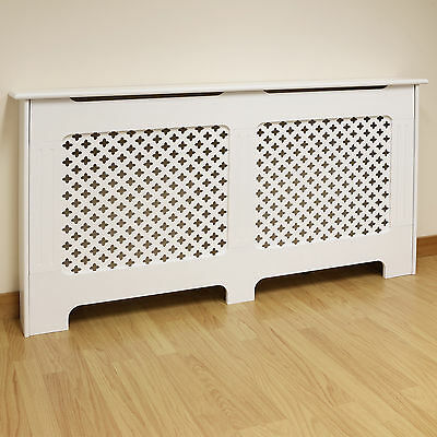 White Traditional/Classic Large Size Radiator Cabinet/Cover MDF Wood/Painted