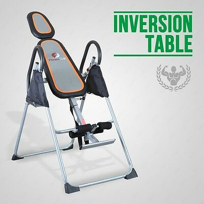 BN Fitness Club Premium Foldable Grey Inversion Table Back/Neck Pain Relief