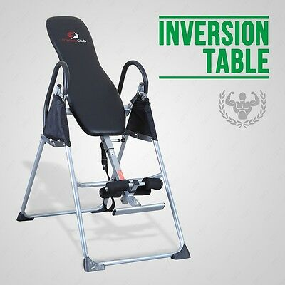 BN Fitness Club Black Inversion Table  Chiropractic Back Pain Relief Reflexology