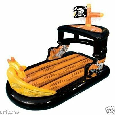 Pirate Ship Ahoy Matey Boat Pool Raft Float Inflatable Parts  For 2 Kids 5+ NEW