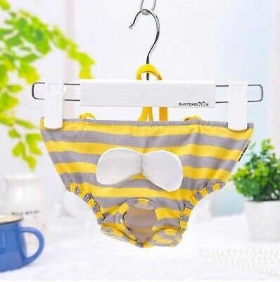 Dog Puppy Diaper Sanitary Pant BEE Reusable Washable Stretch For SMALL Pet