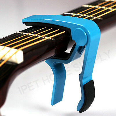 Aluminum Blue Guitar Capo Spring Trigger Electric Acoustic Quick Change Release