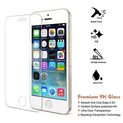 For iPhone 5s 5c High Quality Premium Real Tempered Glass Film Screen Protector
