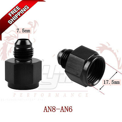 Kylin 1PCS AN8 FEMALE to AN6 6AN MALE REDUCER EXPANDER HOSE FITTING ADAPTOR