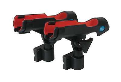 2 x Jarvis Walker Adjustable Fishing Rod Holders with Side and Rail Mounts