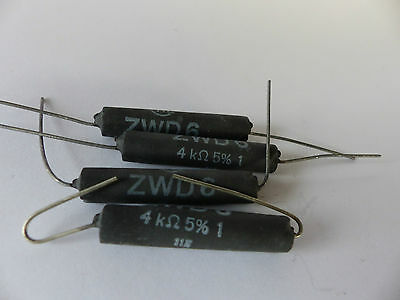 10x Leistungs-Widerstand Draloric GWD 6 ca 5.1 kOhm for Tube Amps 6 W