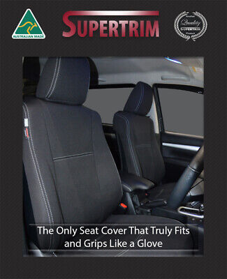 FRONT Seat Covers MY16 Toyota Hilux SR SR5 Premium Neoprene Waterproof 100% Fit