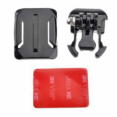 Helmet Curved Surface Mount Stand + 3M VHB Sticker Kit for GoPro Hero