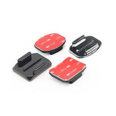 4x Flat and Curved Mounts + 3M Adhesive Pads for Camera Gopro Hero 4 3 2 1