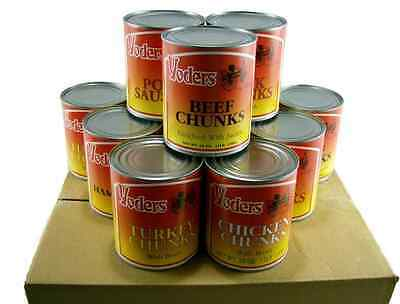 Yoders Canned Meats Variety Pack *Case of 12* Food Storage* Emergency*
