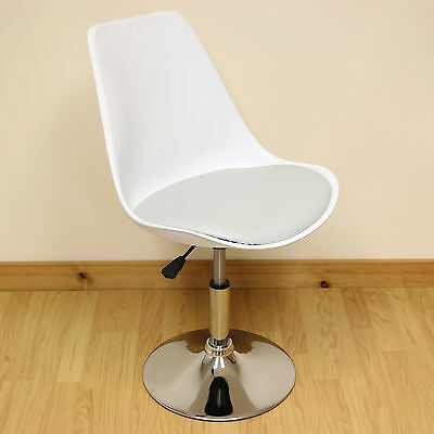 White & Grey Adjustable Tulip Swivel Desk Chair Home/Office Computer/PC Seat