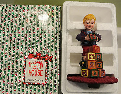 Dept 56 All through the house Bradley Building with Blocks figure Xmas 93203