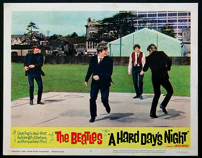 A Hard Day'S Night The Beatles 1964 Lobby Card #2