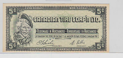 1X Canadian Tire Money Coupon 1961 5 Cent Bill H1491646 Canada IN HOLDER