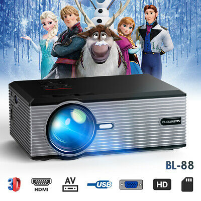 5000 lumens LED HD Video LCD Projector Home Theatre HDMI USB VGA SD Outdoor 2019