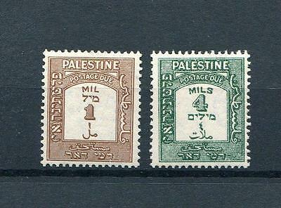 Palestine 1928-44 perf 15x14 1m and 4m SG12a and SG14a MVLH - cat £117