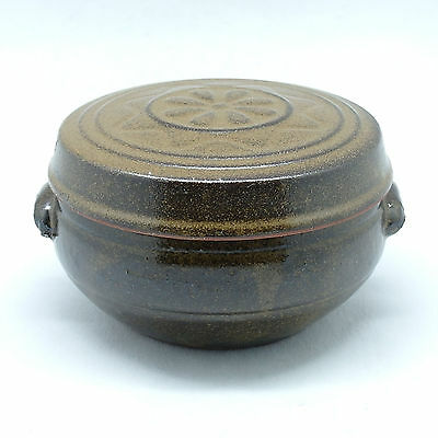 Earthenware sauce jar unique lid with star pattern small pot Kimchi Hangari
