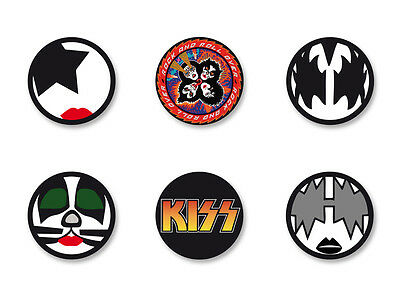 Lot Pack Badge Button Ø25mm Logo kiss Bands Groupe Hard Rock US