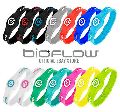 Bioflow Sport Magnetic Silicone Wristband - Black/White, Black/Red, Black/Blue