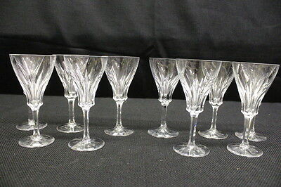10 Pc Villeroy & Boch Crystal Tulip Claret Cordial Glasses w/Cut Foot, Etched VB