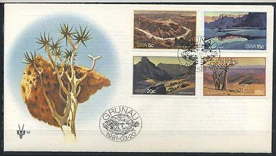 15-11-00458 - South West Africa 1981 Mi.  500-503 FDC 100% Tourism
