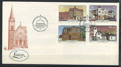 15-11-00460 - South West Africa 1981 Mi.  508-511 FDC 100% Historical Buildings