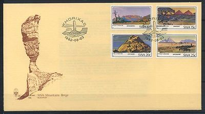 15-11-00455 - South West Africa 1982 Mi.  524-527 FDC 100% Mountains