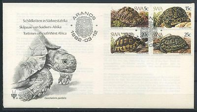 15-11-00442 - South West Africa 1982 Mi.  516-519 FDC 100% Turtles