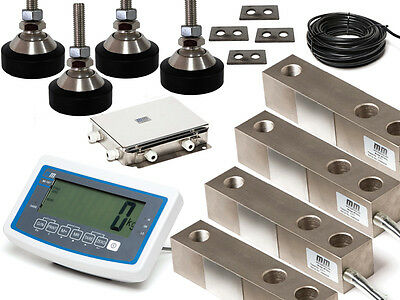 Floor Scale kit 500kg*0.2 kg capacity with 4 load cells , Jn box and read out
