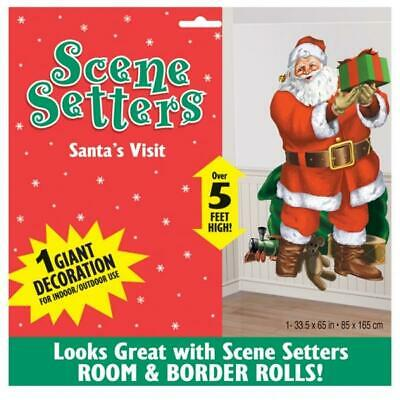 Christmas Party Santas Visit Decoration Scene Setter