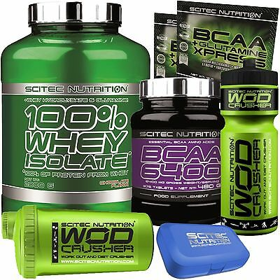 Scitec nutrition Proteine whey isolate idrolizzate 2kg + Bcaa 6400 375cpr