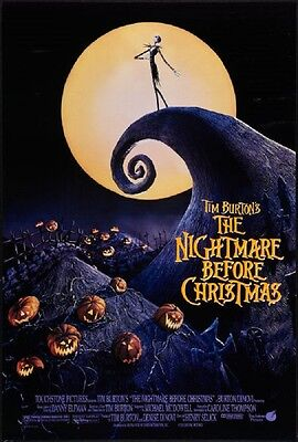 THE NIGHTMARE BEFORE CHRISTMAS original film / movie  poster