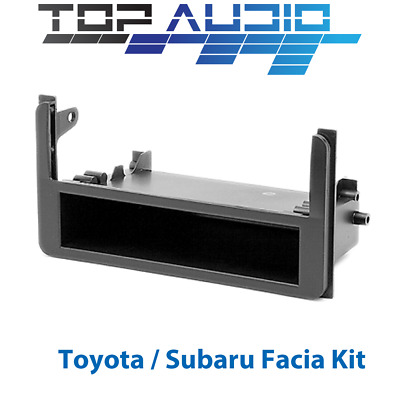 Toyota Hilux Single Din Radio Facia dash panel trim Fascia Kit plate w pocket