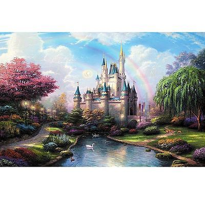 "Paint DIY By Number kit   Beautiful Castle Canvas Painting Home Decor 16""x20"""