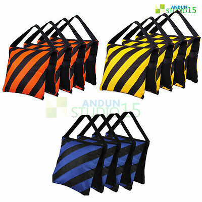 4 Pcs Photography Studio Stage Weight Film Sandbag Sand Bag Boom Light Stand Kit