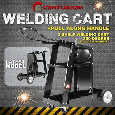 Centurion Welding Trolley Cart Welder Bench Mig Tig Arc Mma Plasma Cutter Handle