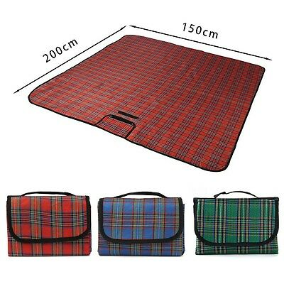 Extra Large Waterproof Picnic Blanket Rug Travel Outdoor Beach Camping Mat UK