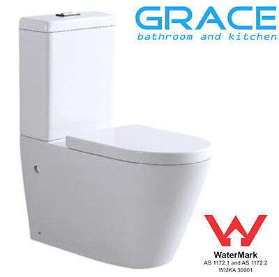 Toilet Suite New WELS Back to Wall Ceramic,soft closing seat,S P trap