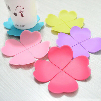 Coaster Set Special Creative Flower Shaped Silicone Cup Mat Ideal Tea Placemat