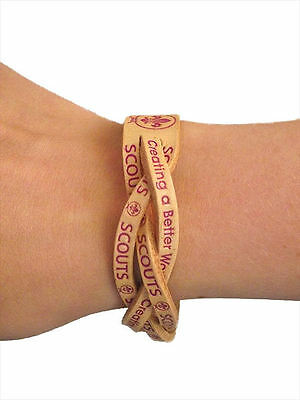 World Scout Leather Wristband Large/Mens