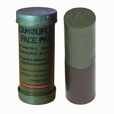 Camouflage Camo Cream Body Face Paint Tube Stick Green Brown Army Cadet British