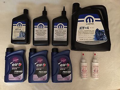 Automatic Transmission, Transfer Case & Differentials Fluids Complete SET Jeep's