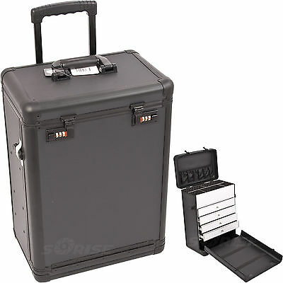 Aluminum Lock Professional Artist Rolling Cosmetic Drawers Case C6000
