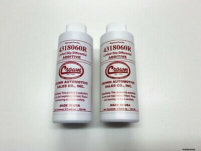 2 x Axle Additive to reduce friction & eliminate noise all Jeep's 4318060R