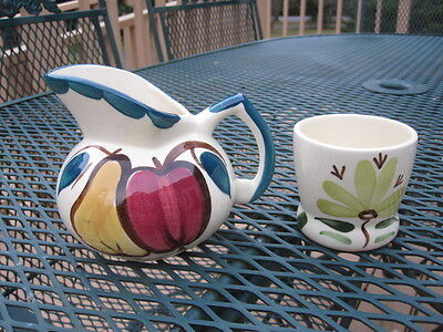 Purinton Pottery Two Pieces Apple