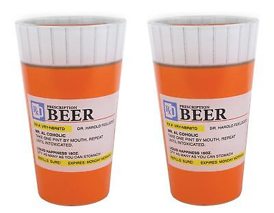 Big Mouth Toys Prescription Pint Glass Set